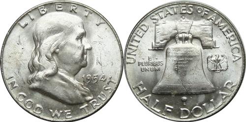1954-D Franklin Half Dollar Value