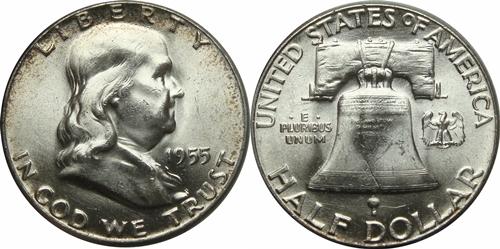1955 Franklin Half Dollar Value