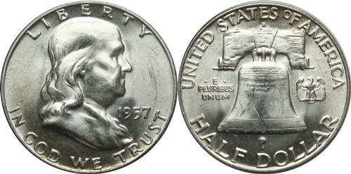 1957-D Franklin Half Dollar Value