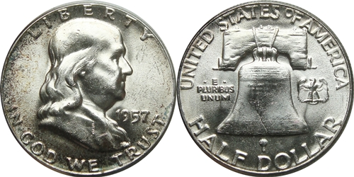 1957 Franklin Half Dollar Value