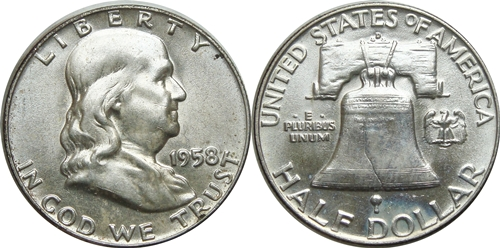 1958-D Franklin Half Dollar Value