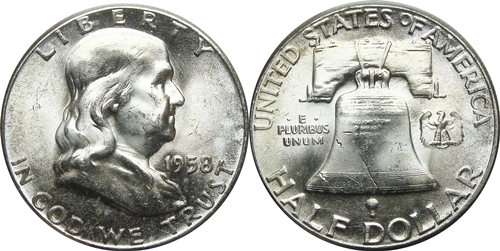1958 Franklin Half Dollar Value