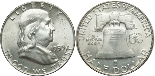 1959-D Franklin Half Dollar Value