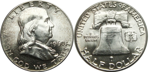 1960 Franklin Half Dollar Value