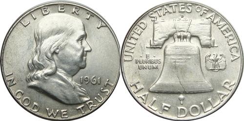 1961-D Franklin Half Dollar Value