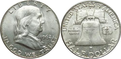 1962-D Franklin Half Dollar Value