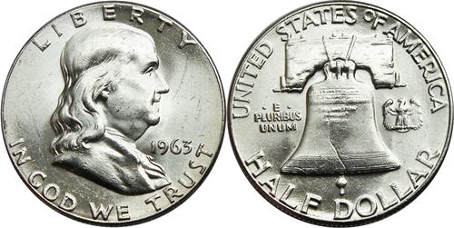 1963 Franklin Half Dollar Value
