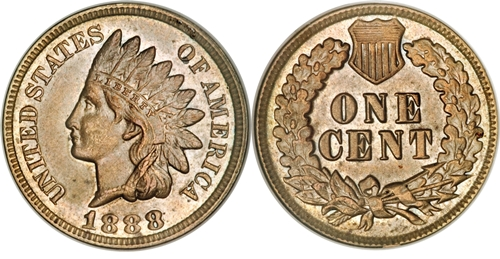 1888 7 Over Date Indian Head Cent Coin Values