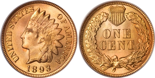 1893 INDIAN HEAD CENT LOT 3