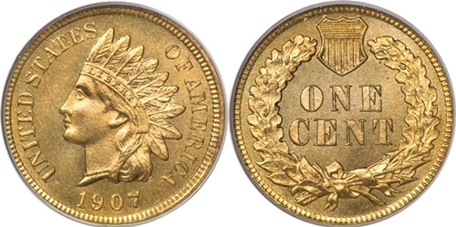 1907 Indian Head Cent Coin Values