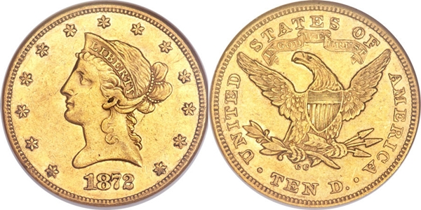 Most valuable $10 Liberty Motto Eagle gold coin values