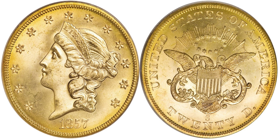 Most valuable $20 Liberty Head No Motto Double Eagle gold coin values