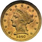 1840-O Liberty Head $2.50