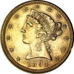 1894-S Liberty Head $5.00