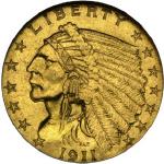 1911 Indian Head $2.50