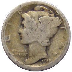 1918 Mercury Dime G4