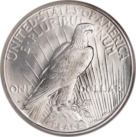 1922-S Peace Dollar Reverse