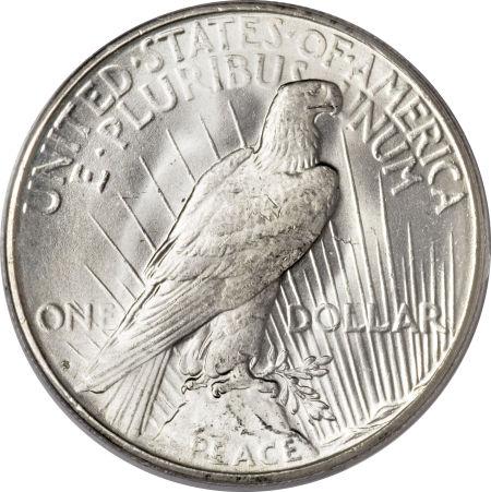 1923-S Peace Dollar Reverse