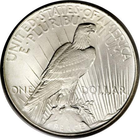 1925 Peace Dollar Reverse