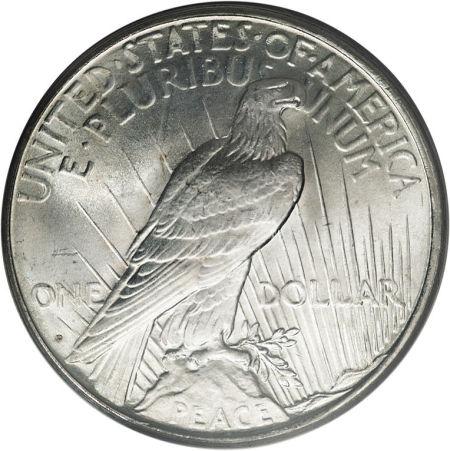 1926-D Peace Dollar Reverse