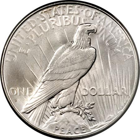 1934-D Peace Dollar Reverse