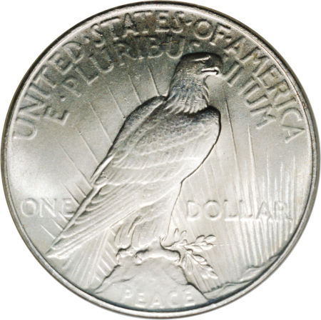1935 Peace Dollar Reverse