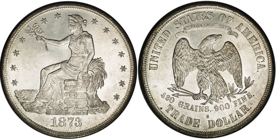 1873-S Trade Dollar Value