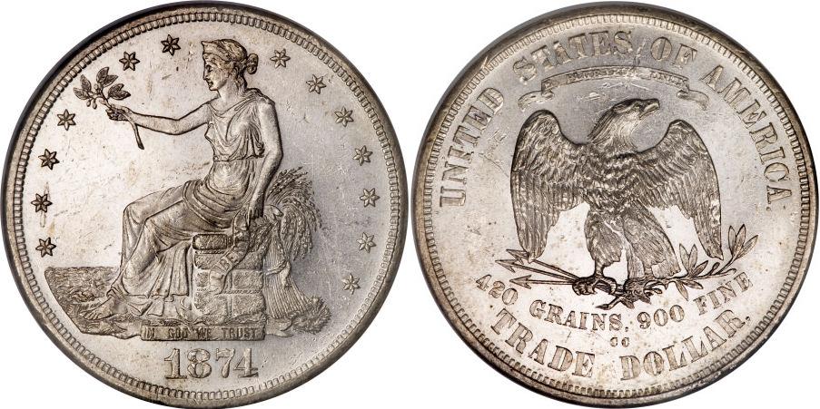 1874-CC Trade Dollar Value