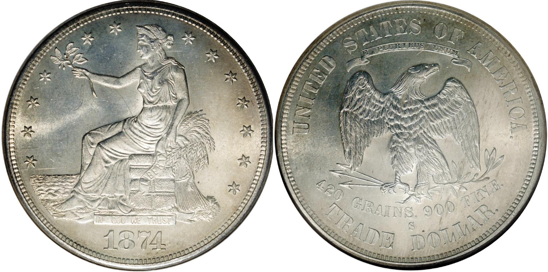 1874-S Trade Dollar Value