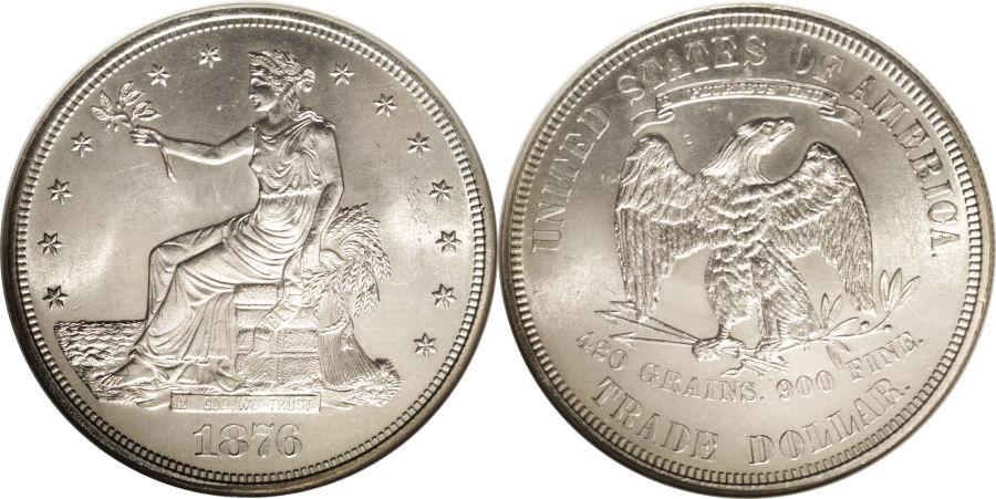 1876 Trade Dollar Silver Coin Value Facts