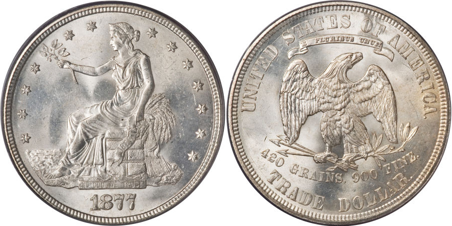 1877 Trade Dollar Silver Coin Value Facts