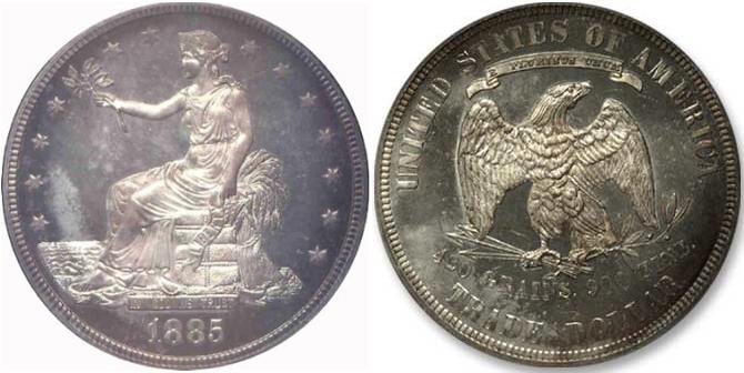 1885 Trade Dollar Value