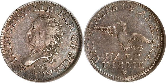 1792 Half Disme Value