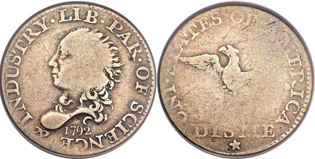 1792 Half Disme Value G4