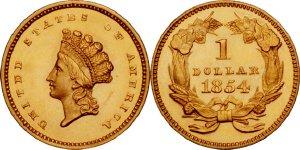 $1 Gold Type 2 Indian Princess Value