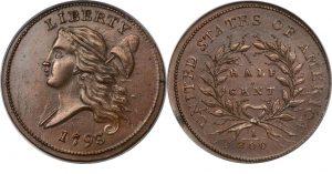 1793 Liberty Cap, Facing Left, Half Cent Value