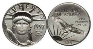 $25 Platinum Eagle Value
