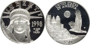 1998-W P$50 Half-Ounce Platinum Eagle