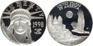 1998-W P$50 Half-Ounce Platinum Eagle