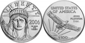Platinum Eagle Value One Hundred Dollars $100