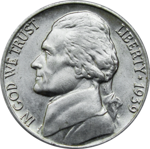 1939-D Jefferson Nickel Reverse Of 1938 Value