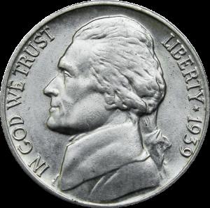 1939-S Jefferson Nickel Revers Of 1940 Value