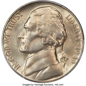 1949 Jefferson Nickel Value