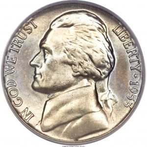 1953 Jefferson Nickel Value