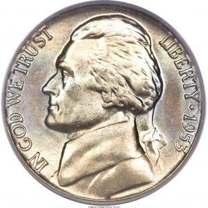 1953 Jefferson Nickel Value