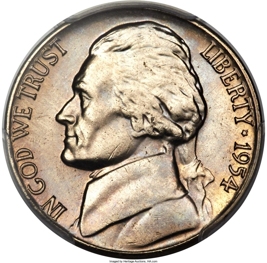 1954-S/D Jefferson Nickel Value