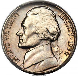 1954-D Jefferson Nickel Value