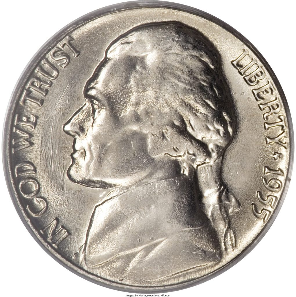 1955-S Jefferson Nickel Value