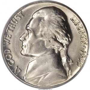 1955 Jefferson Nickel Value
