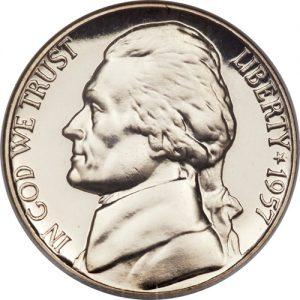 1957 Jefferson Nickel Value